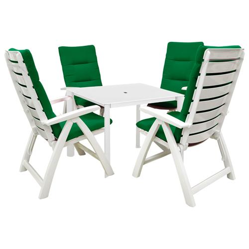 Kettler Rimini 5 Piece Resin Patio Furniture Set. Includes 4 Chairs, A  Kettalux