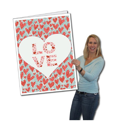 2' x 3' Giant Valentine's Day Card - Love You Always w/Envelope