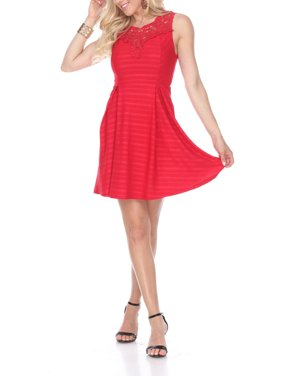 e500ee26d300 Product Image Women's Taja Fit & Flare Dress. Product Variants Selector. Red  Black