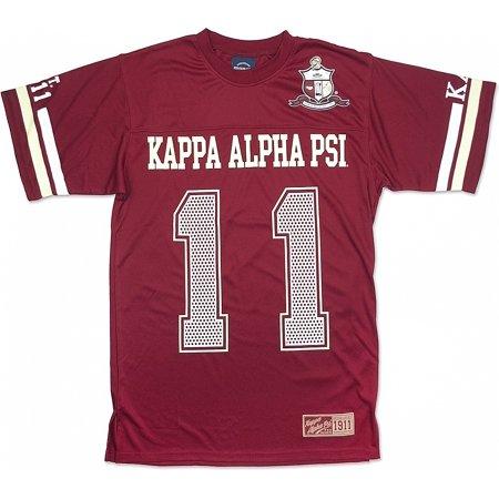 Big Boy Kappa Alpha Psi Divine 9 Mens Jersey Tee [Crimson Red -