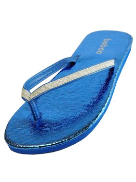 59ad7ed052728 Product Image Summer Sparkling Bling Shinning Metalic Thong Flip Flops Slip  On Beach Sandals Shoes… Product Variants Selector. Blue