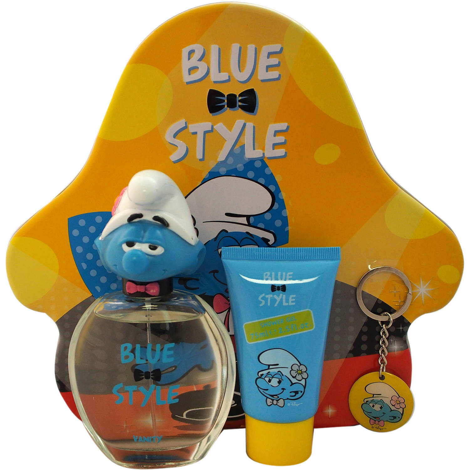 First American Brands The Smurfs Blue Style Vanity Gift Set for Kids, 3 pc
