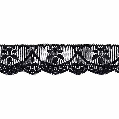 "Wrights Flat Heartdrop Lace, 1-5/8"" x 12 yds, Black"