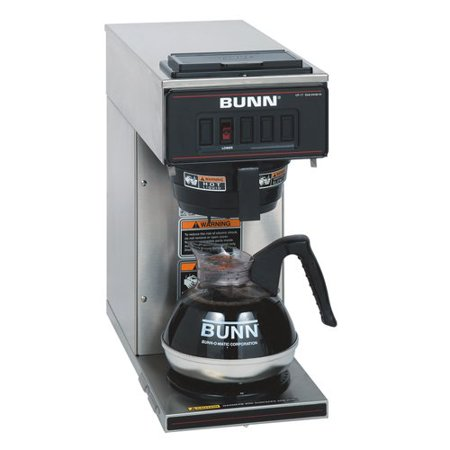 Bunn Vp17 1 Coffee Brewer   1600 W   2 Quart   12 Cup S    No   Stainless Steel  Black   Stainless Steel  Plastic  13300 0001