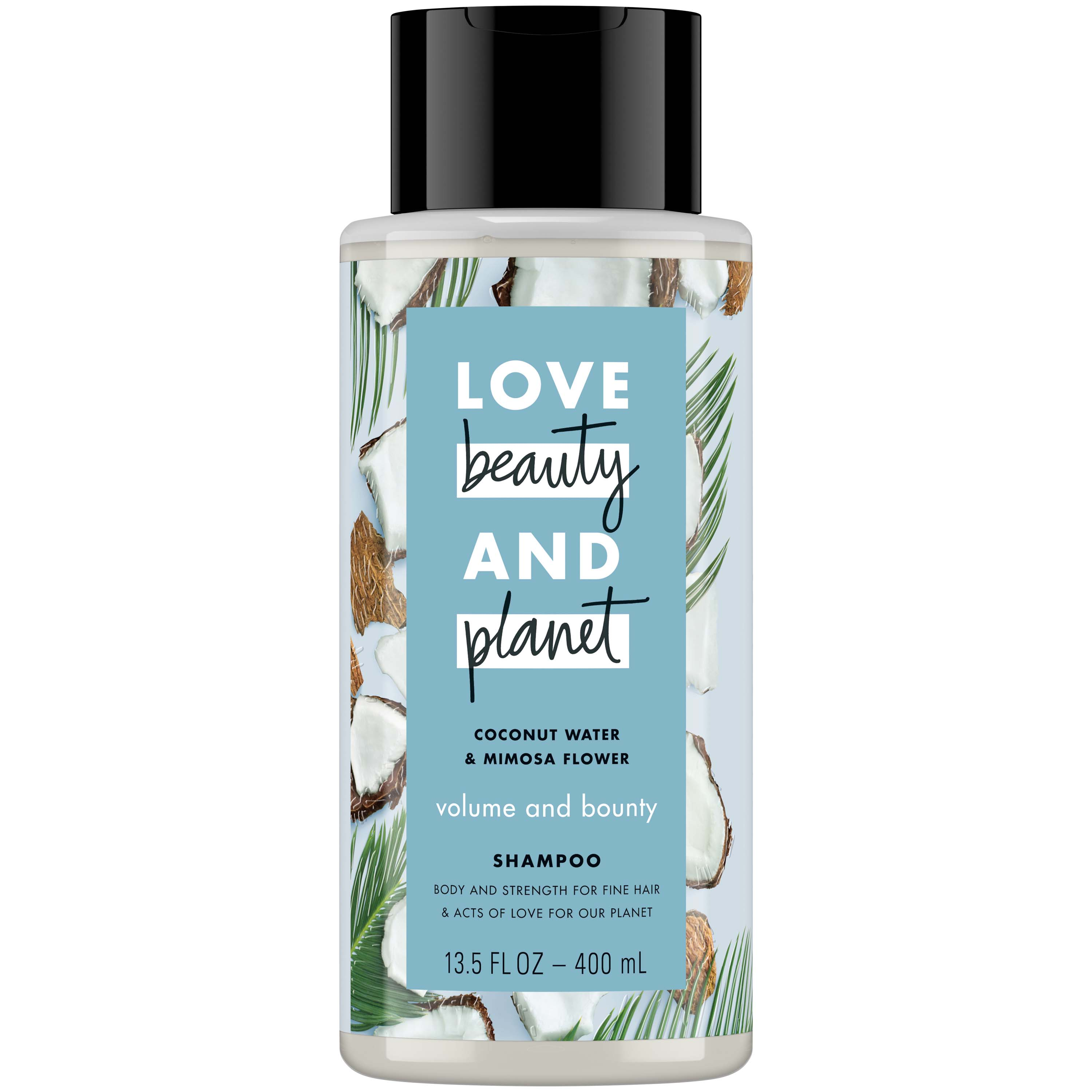 Love Beauty And Planet Volume and Bounty Thickening Shampoo for Thinning Hair, Coconut Water & Mimosa Flower 13.5 oz
