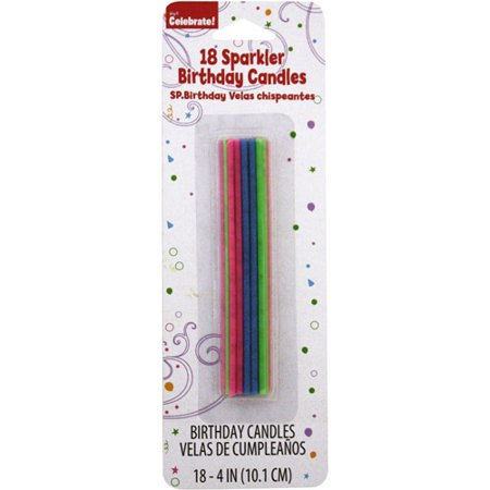 Way To Celebrate Sparkle Birthday Candles, 18 ct