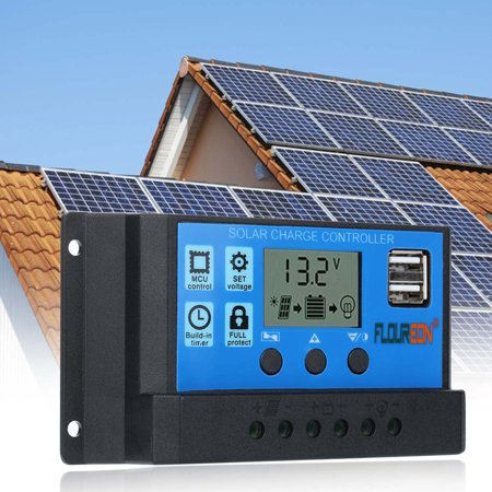 FLOUREON 30A Solar Charge Controller Solar Panel Battery Intelligent (Panel Controller)