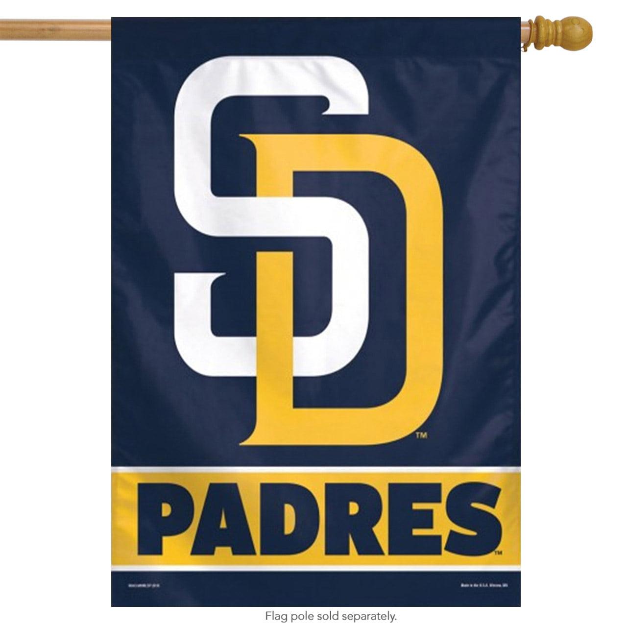 "San Diego Padres Vertical Flag MLB Licensed 27"" x 37"""