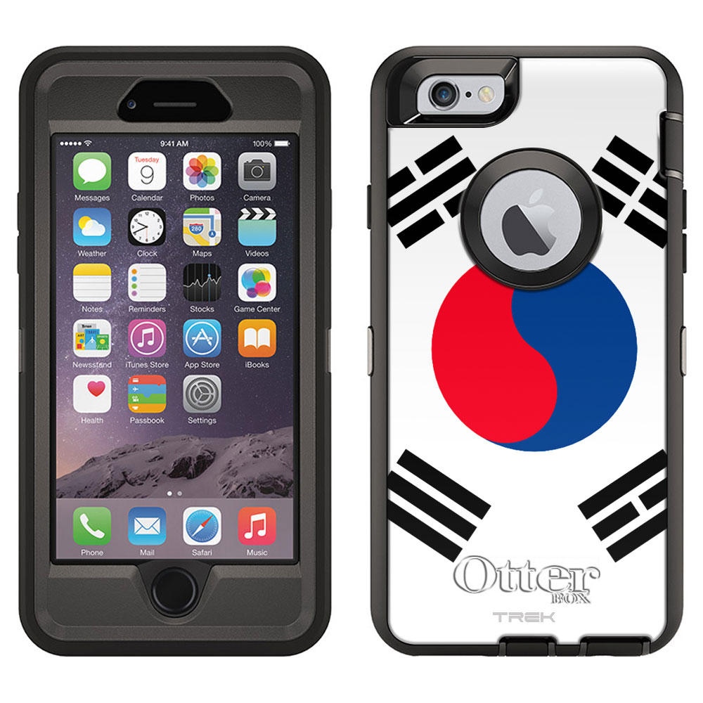 OtterBox Defender Apple iPhone 6 Plus Case South Korea Flag OtterBox Case by Trek Media Group