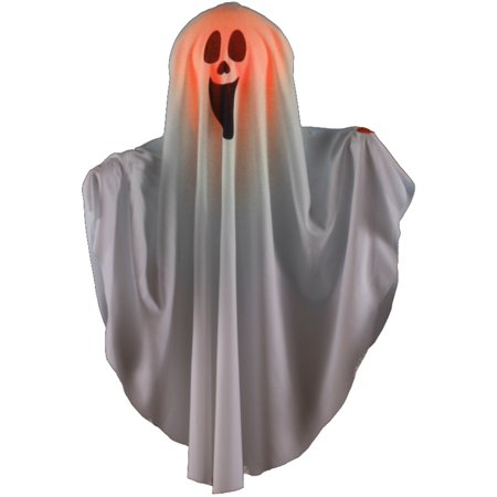 Color Changing Scream Face Boo Ghost Halloween Hanging - Halloween Screams Sounds