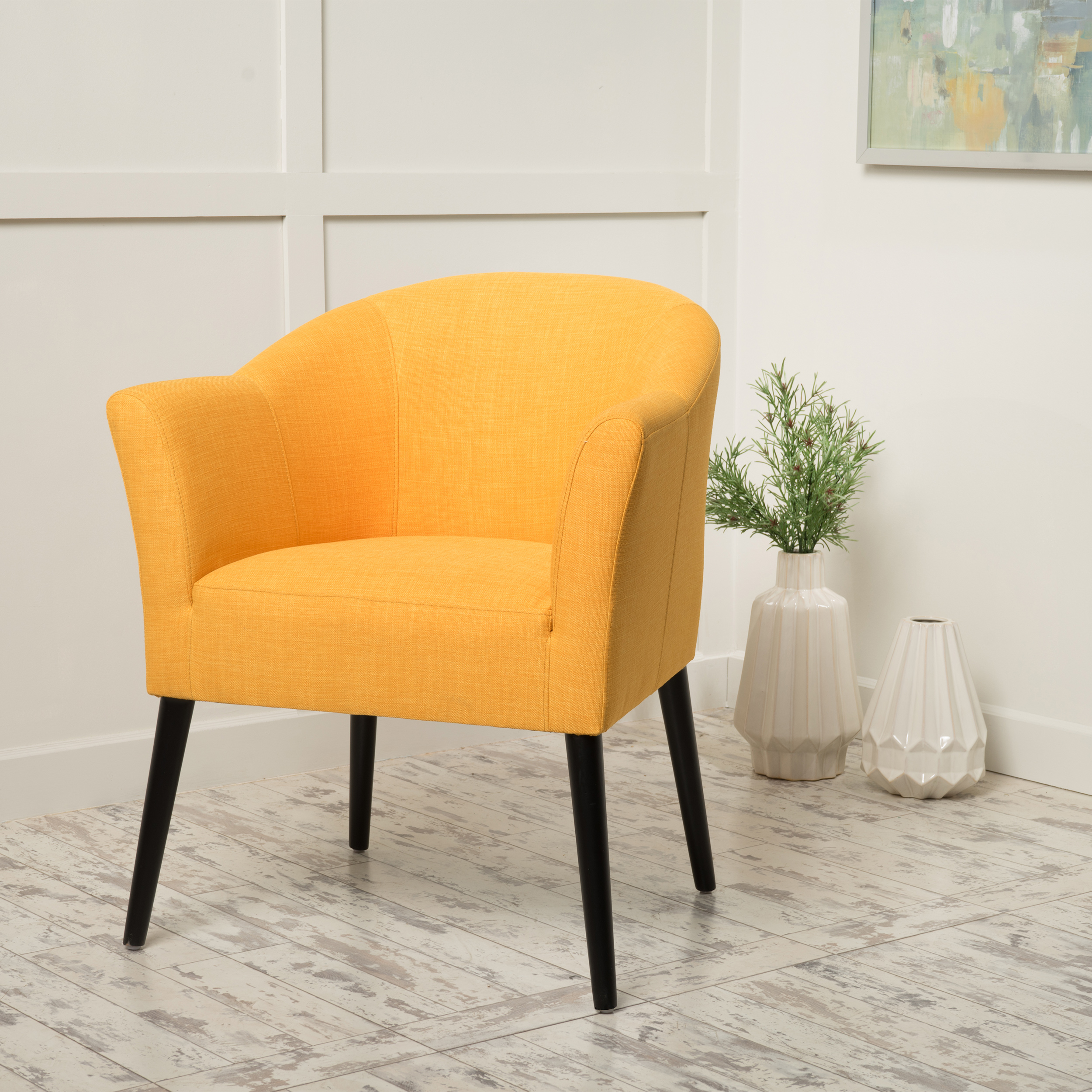 Noble House Fabric Arm Chair,Orange