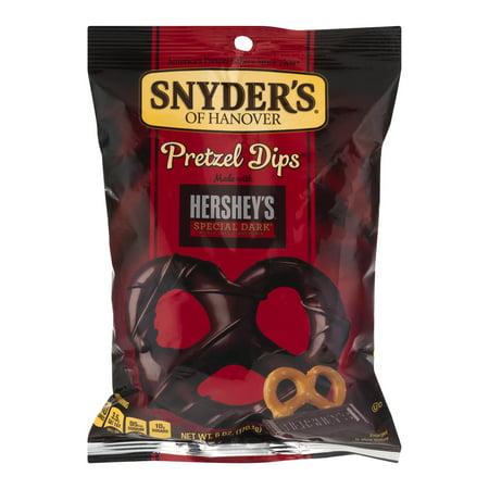 Snyders Of Hanover Hersheys Special Dark Chocolate Pretzel Dips  6 Oz