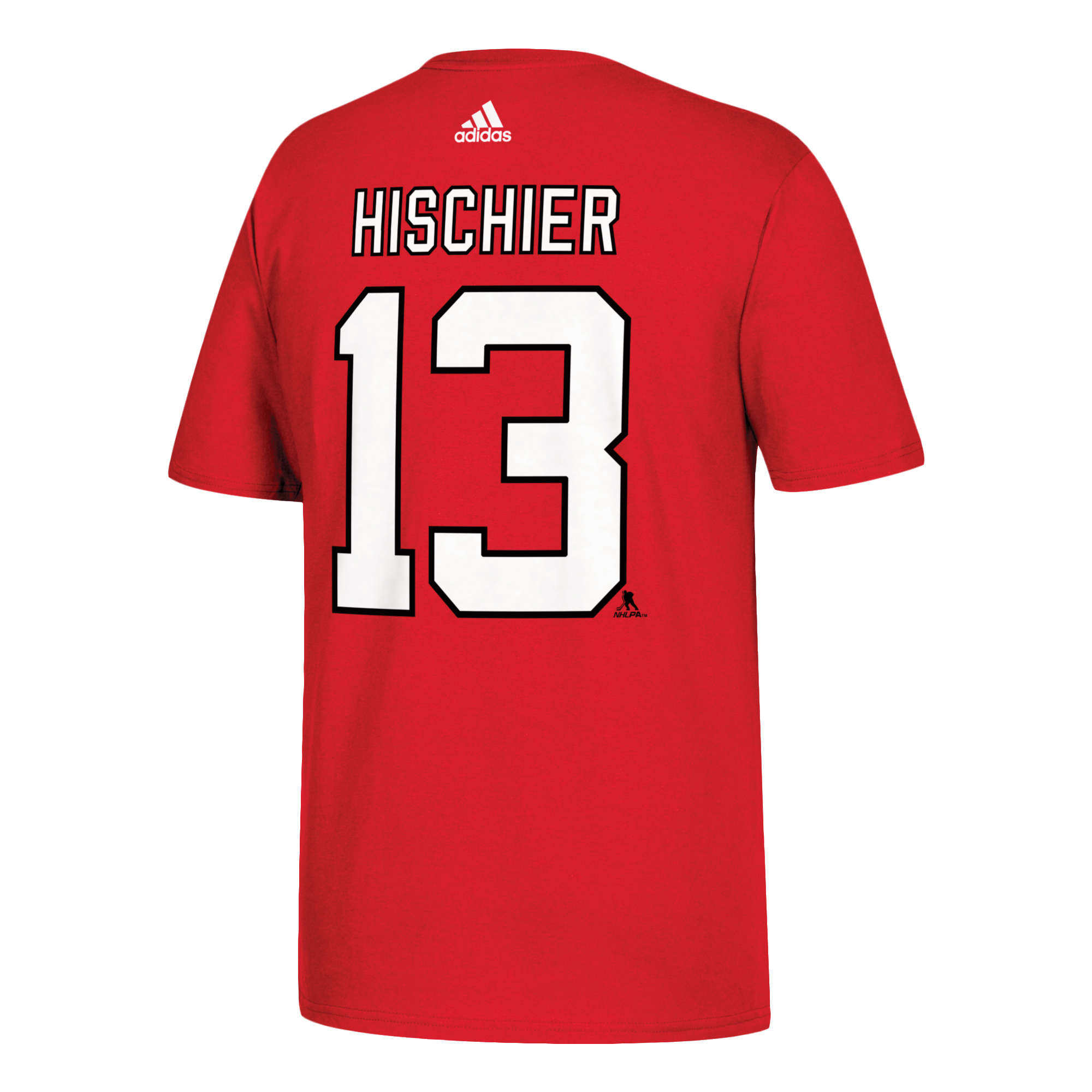 Nico Hischier New Jersey Devils adidas Name   Number T-Shirt - Red -  Walmart.com 925f3957f