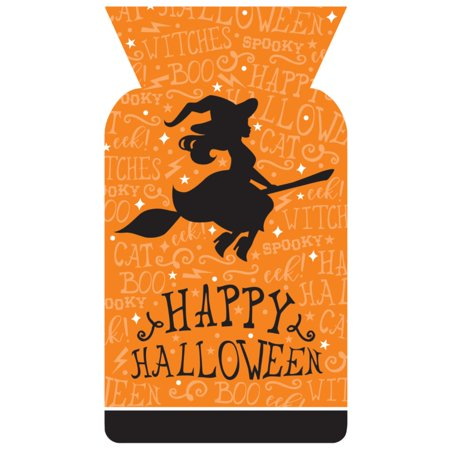 Happy Halloween Black Witch (Orange and Black