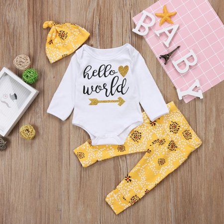 118dbdaacff9 Fiomva - Toddler Infant Newborn Baby Boy Girl Romper+Pants Jumpsuit ...