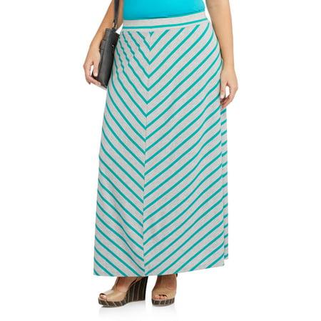 5f046c58c Faded Glory - Women's Plus-Size Essential Knit Maxi Skirt - Walmart.com