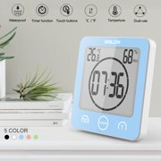 Shower Clock Waterproof Shower Clock Suction Cup Countdown Alarm Bathroom Timer Clock,Temperature and Humidity are also displayed