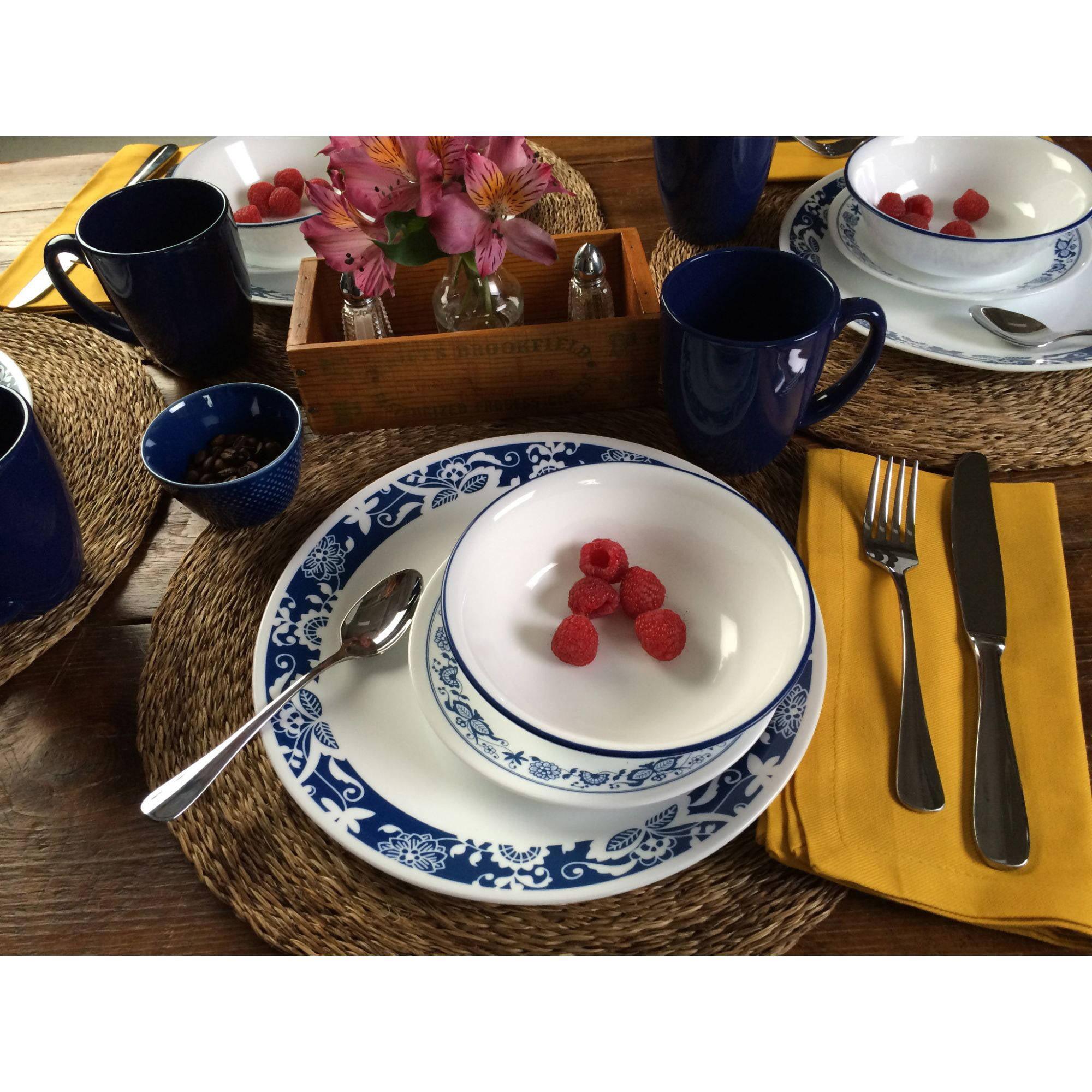 cool dinnerware blue door ceramcisdinnerware sets ceramic dinner  - corelle piece livingware true blue dinnerware set walmartcom
