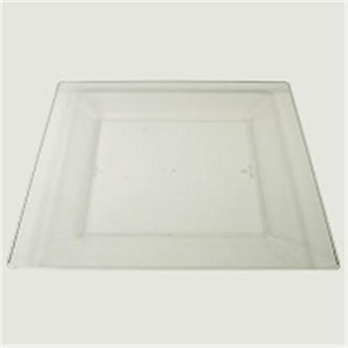Maryland Plastics Simply Square PKG-SQ10756 Squares 10. 75 inch Dinner Plastic Plate, Clear 10 Ct. , Pack Of 2