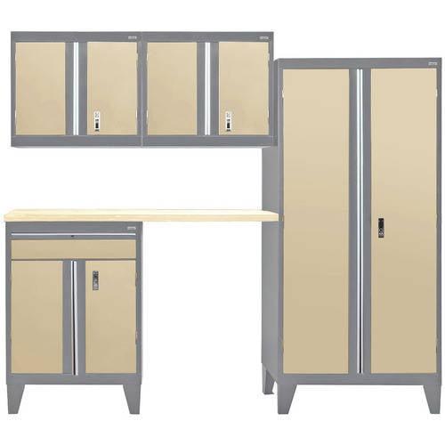"""Sandusky 5-Piece Modular Garage Welded Storage System, 79""""H x 18""""D x 96""""W"""
