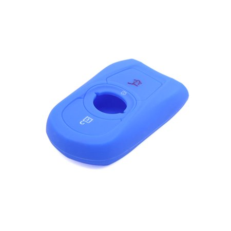 3 Button Deep Blue Car Silicone Remote Key Cover Case Fob