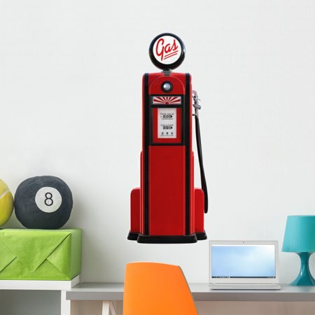 1950s Gas Pump Wall Decal by Wallmonkeys Peel and Stick Graphic 36 in