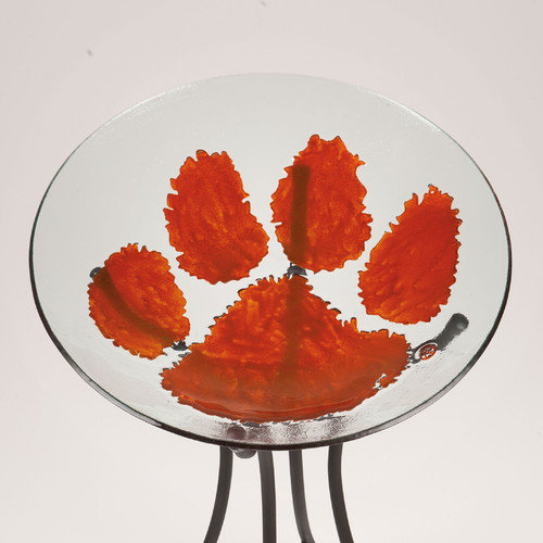 Clemson University Glass Bird Bath