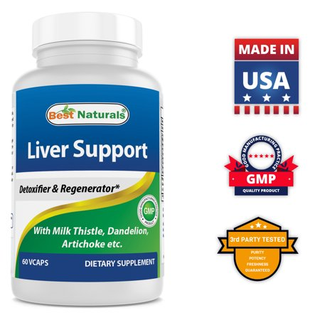 Best Naturals Liver Cleanse Detox & Support Formula with Milk Thistle Silymarin, Beet Root, Artichoke, Dandelion Root etc - 60 Veggie