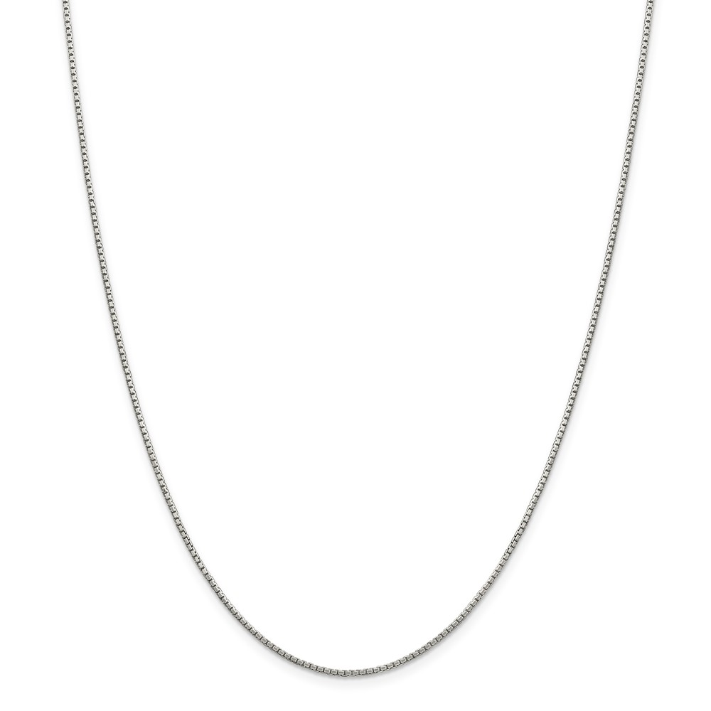 """925 Sterling Silver 1.35mm 8 Side Diamond-Cut Box Necklace Chain -16"""" (16in x 1.35mm)"""
