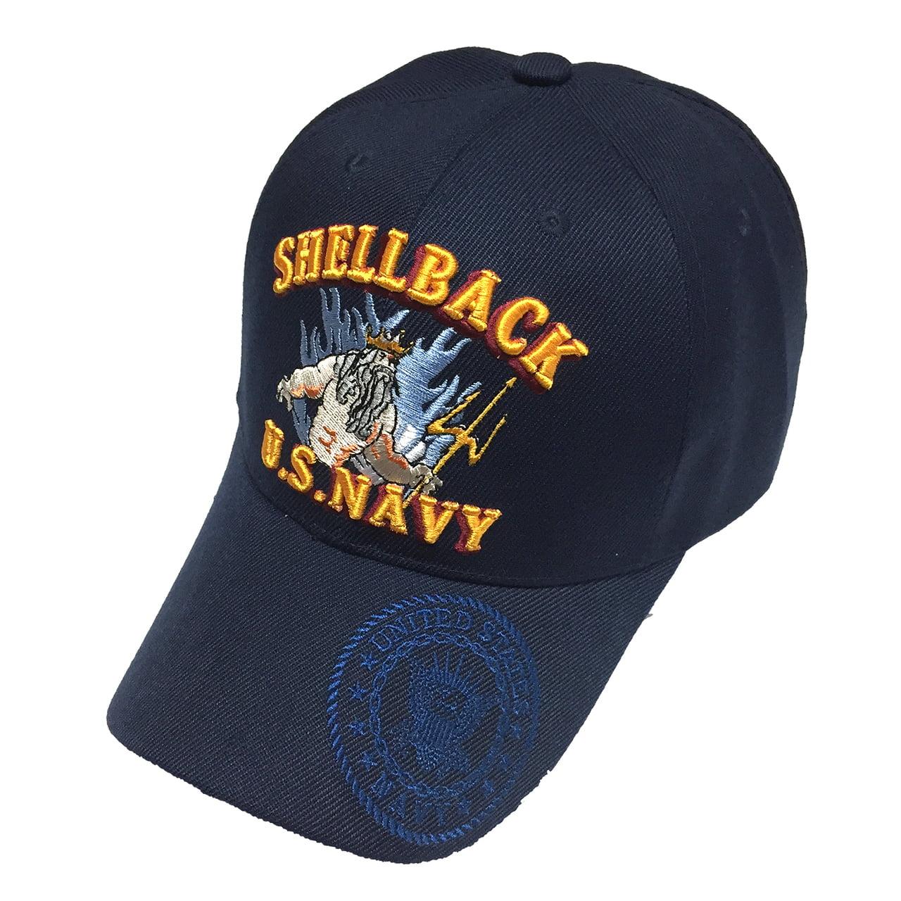 4fc78ae68d5 U.S. WARRIORS - U.S. Military Hat US NAVY Shellback Navy Baseball Cap  Men  s Adjustable Velcro - Walmart.com