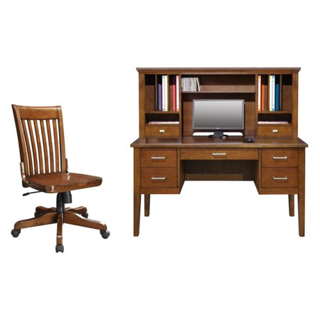 Optional Cherry (Winners Only Koncept 54 in. Desk with Optional Hutch & Chair - Brown Cherry )
