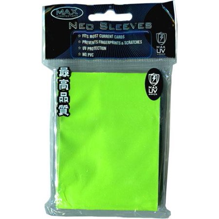 Max Protection Card Supplies STANDARD Card Sleeves Flat Lime Green [50