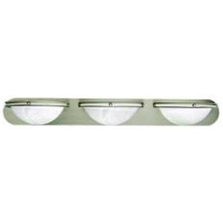 Contemporary 3-Bulb Vanity Fixture  36 In.  Brushed Nickel