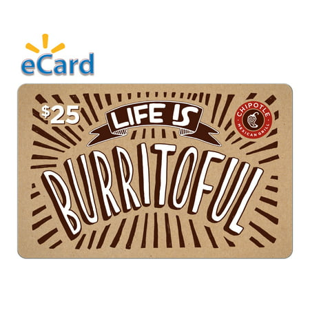 Chipotle $25 Gift Card