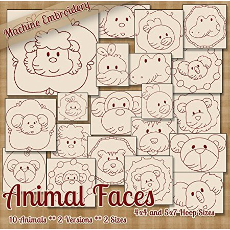 Animal Faces Redwork Embroidery Machine Designs On Cd 20 Patterns 2