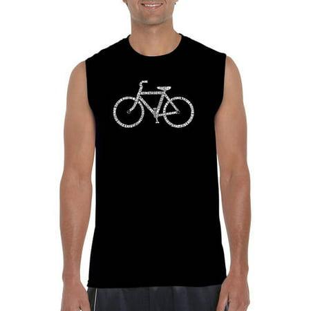 Men's sleeveless t-shirt - save a planet, ride a bike