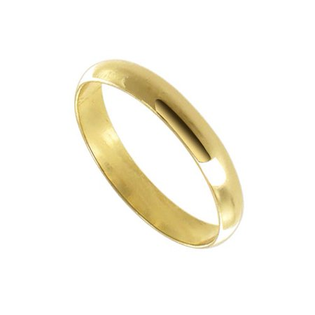 Gem Avenue 18k Gold Layered 3mm Wide Plain Wedding Band Plain Wide Band Ring