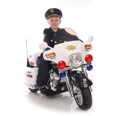 Kid Motorz Police Motorcycle 12-Volt Battery-Powered Ride ...