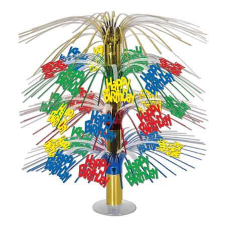 Happy Birthday Cascade Centerpiece 18 Inch (1/Pkg) Pkg/6 - Cascade Centerpieces