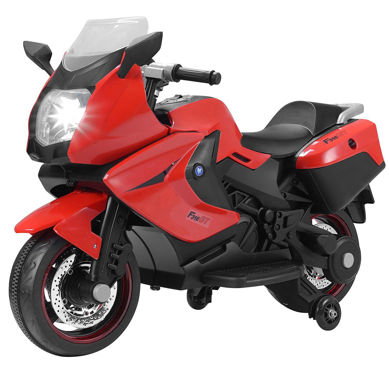 Kids Motorcycle Uenjoy Power Wheels Motorcycle 12V 2 Wheels White by Uenjoy