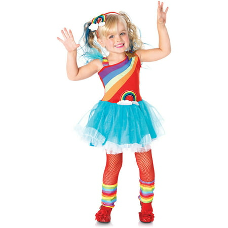 Rainbow Doll Toddler Halloween Costume - Doll Face Makeup Halloween