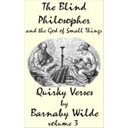 The Blind Philosopher and the God of Small Things - eBook