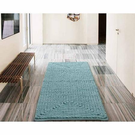 Vcny Home Barron Cotton Chenille Bath Rug Runner 2 X 5