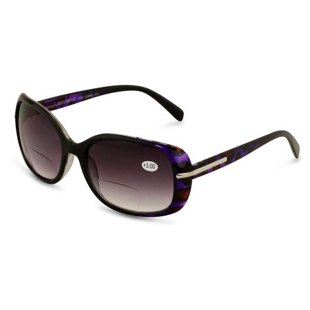 Purple Women's Bifocals Reading Sunglasses Reader Glasses Vintage Outdoor Leopard