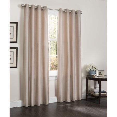 Kashi Home Erin Solid Blackout Grommet Single Curtain Panel ()