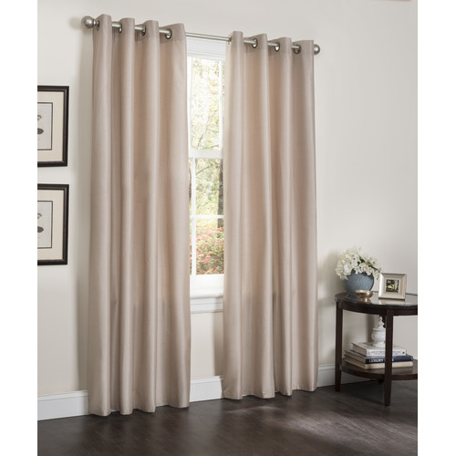 Kashi Home Erin Solid Blackout Grommet Single Curtain Panel