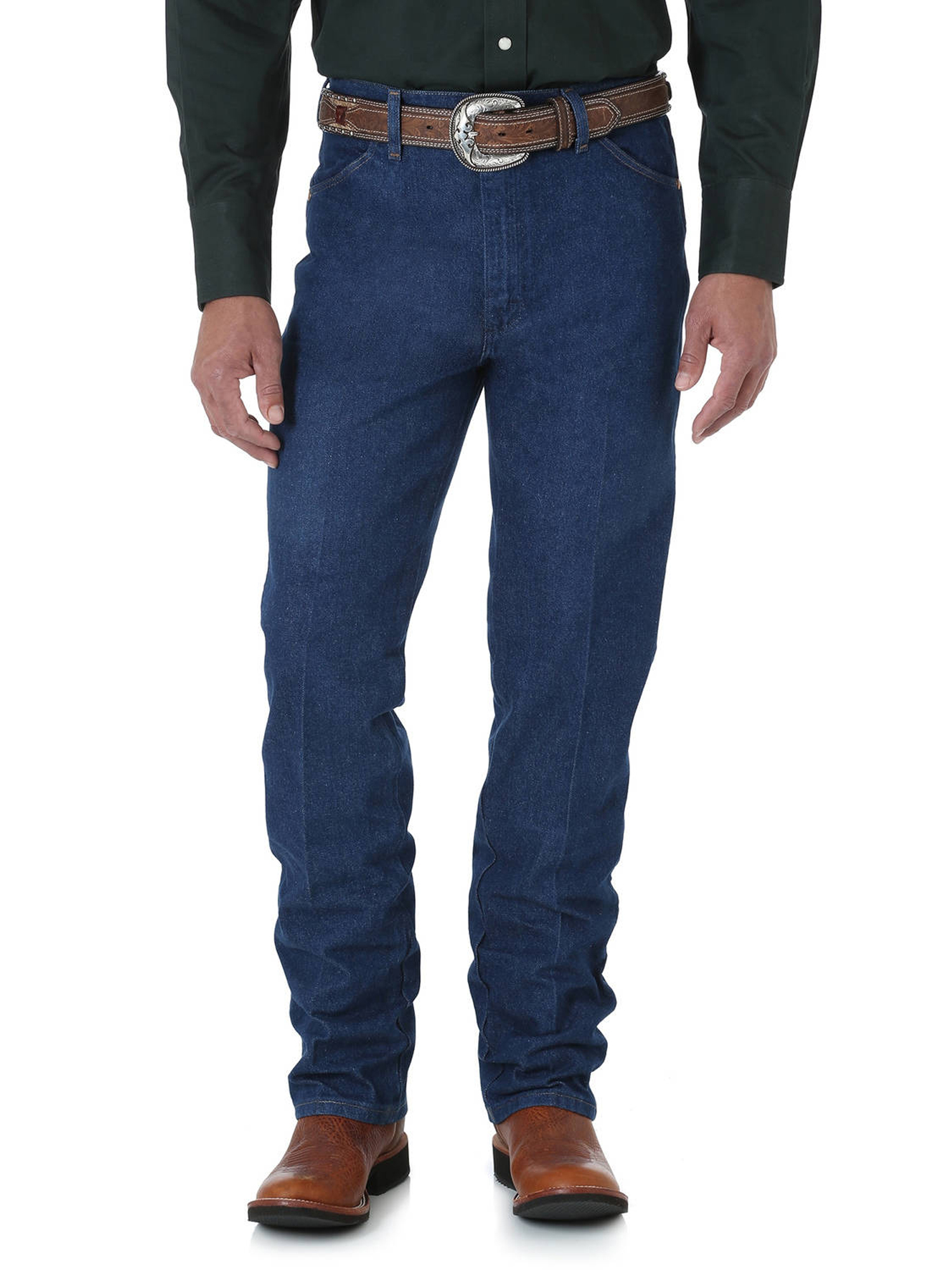 Mens WRANGLER Jeans 936DSD Slim Fit Cowboy Cut Fit Over Boots Dark Stone NEW