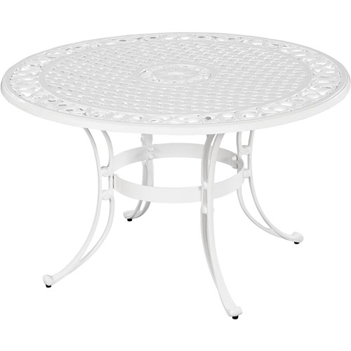 "Home Styles Biscayne 48"" Round Dining Table, White"