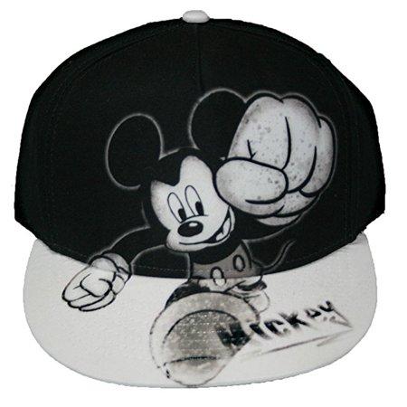 Flat Bill Baseball - Mickey Mouse Smash Flat Bill Mens' Baseball Hat W34