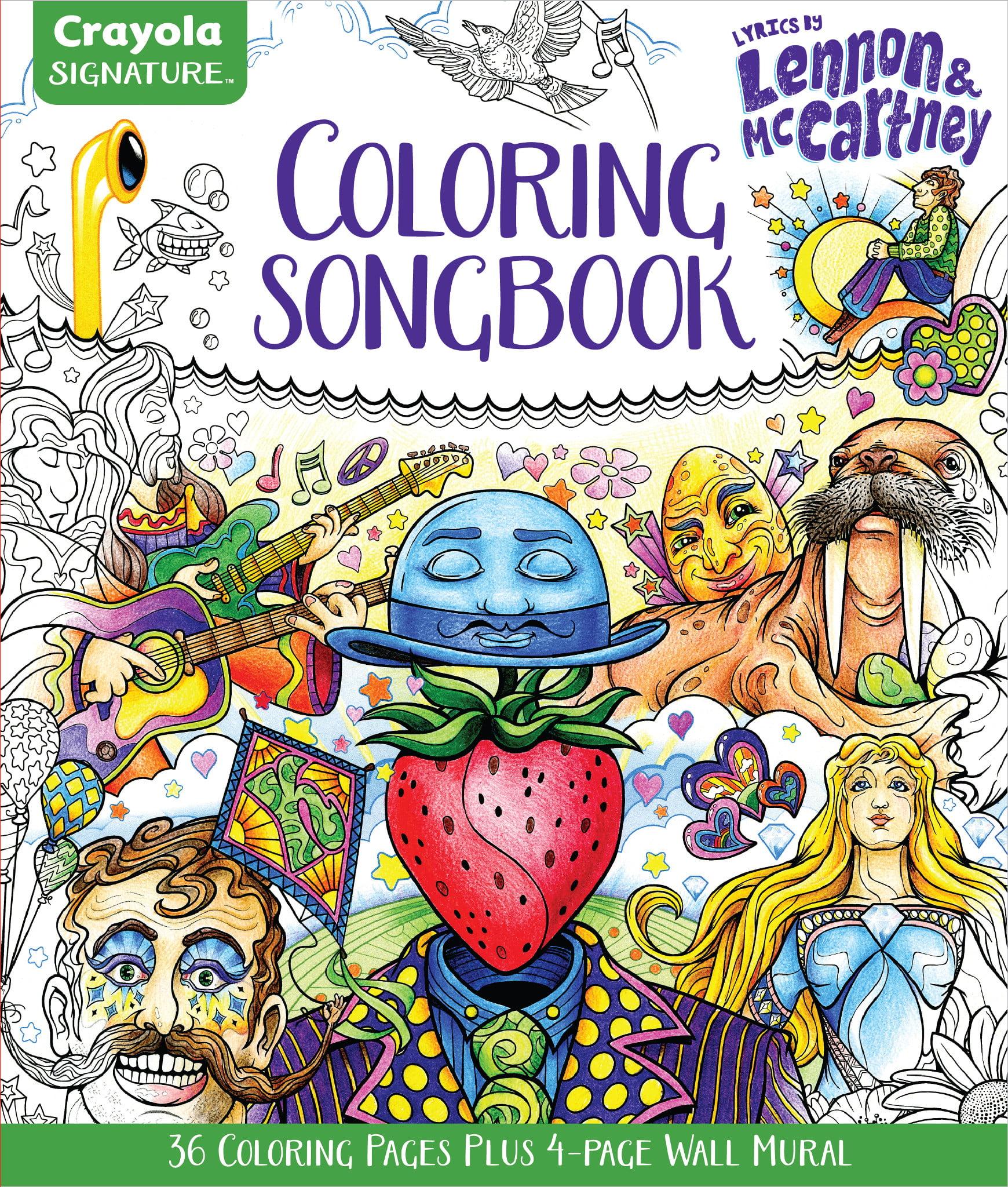 Crayola Signature Adult Coloring Pages Lennon And McCartney Lyrics And Line  Art - Walmart.com - Walmart.com